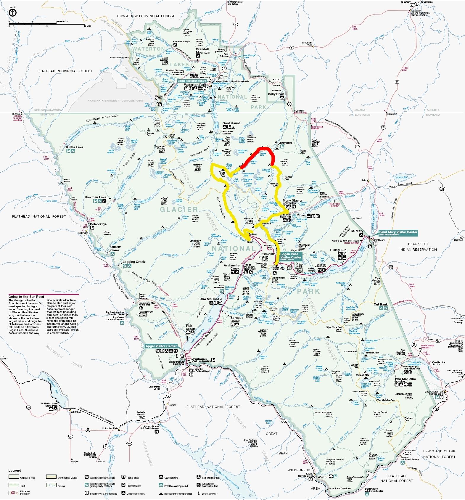 Montana: Glacier National Park- North Circle Route- Elizabeth Lake ...