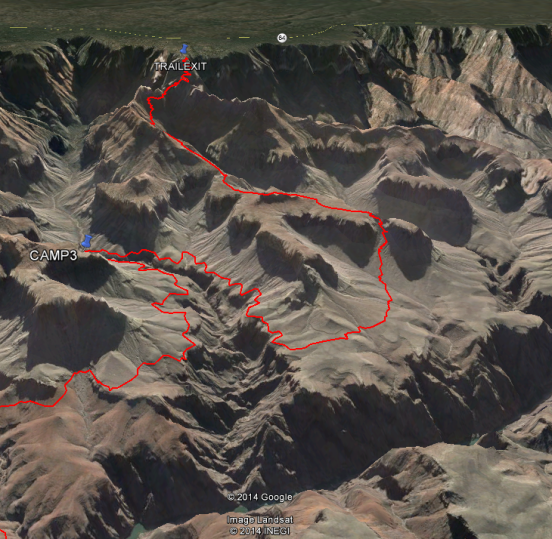 Route on Map - Last Day 3D