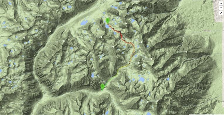 Bench Lake to Woods Creek