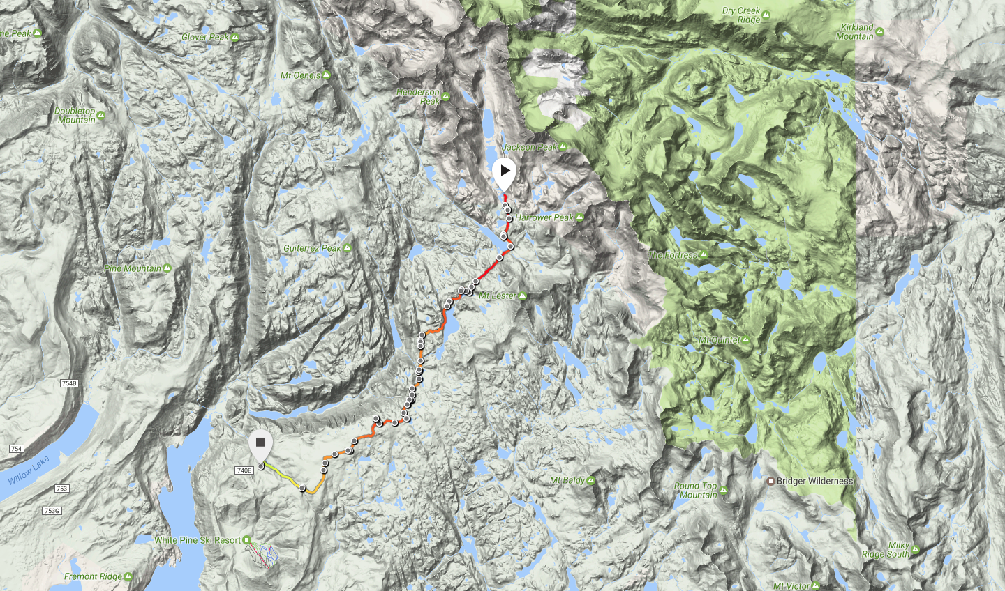 Wind River Range Wyoming Map.Wyoming Wind River Range Titcomb Lakes To Trails End Campground